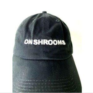 Other - On Shrooms Mushrooms Black Cotton Promo Hat